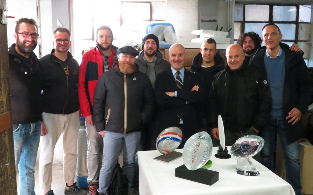 THE FEDERAZIONE ITALIANA RUGBY CHOOSES MURANO GLASS FOR THE SIX NATIONS 2020